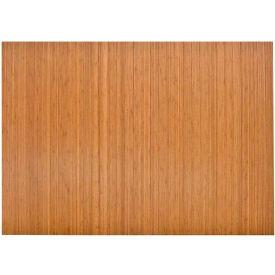 "Anji Mountain,AMB24012,48"" x 52"" Natural Bamboo Roll,Up Office Chair Mat"