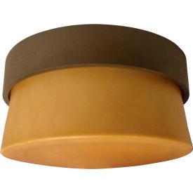 AFX Lighting, ARMF1F13RBECT, One Light Bronze Drum Shade Flush Mount