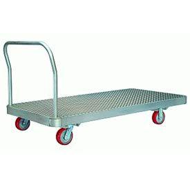 Aluminum Platform Truck 30x60 6x2 Polylast Wheels 2000 lbs