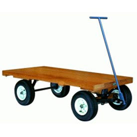 Wood Deck Fifth Wheel Trailer 30x60 Pneumatic Wheels 1500 lbs