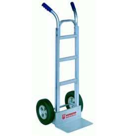 "Aluminum Hand Truck with 10"" Ace-Tuf Wheels and Double Handles"