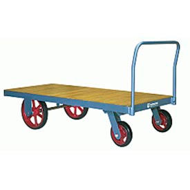 Platform Truck 42x72 Wood Deck Metal Wheels 4000 lbs