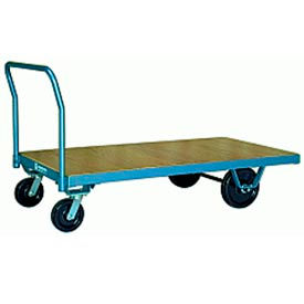 Platform Truck 36x72 Wood Deck Plastex Wheels 3000 lbs