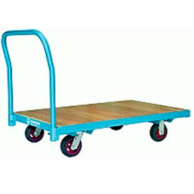 Platform Truck 30x48 Wood Deck 6x2 Moldon Rubber Wheels 1600 lbs