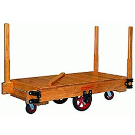 Tilt Truck 36x72 Solid Wood Moldon Rubber Wheels 3000 lbs