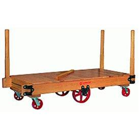 Tilt Truck 30x48 Solid Wood Moldon Rubber Wheels 3500 lbs