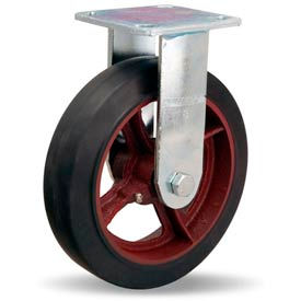 Hamilton® Standard Cold Forged Rigid 8 x 2 Mold-On Rubber Roller 500 Lb. Caster