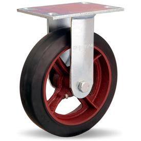 Hamilton® General Service Rigid 8 x 2 Mold-On Rubber Roller 500 Lb. Caster