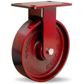 Heavy Service 4-1/2x6-1/2 Rigid 8x2 Metal Ball 1500lb Caster
