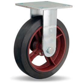 Hamilton® Medium Service Rigid 8 x 2 Mold-On Rubber Roller 500 Lb. Caster