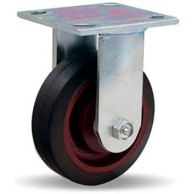 Hamilton® Whirlaway Cold Forged Rigid 5 x 1-1/2 Mold-On Rubber Roller 240 Lb. Caster