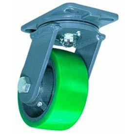 Hamilton® Ext Service Forged Swivel 8 x 2-1/2 Plastex Roller 2000 Lb. Caster