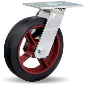 Hamilton® General Service Swivel 8 x 2 Mold-On Rubber Roller 500 Lb. Caster