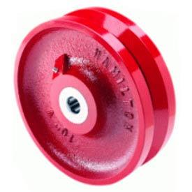 "Hamilton® Metal V-Groove Wheel 10 x 3 - 1"" Roller Bearing"