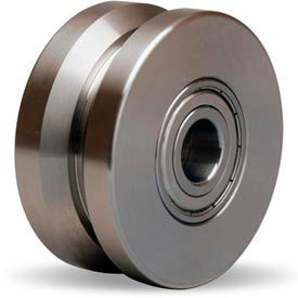 "Hamilton® Stainless V-Groove Wheel 3 x 1-3/8 - 1/2"" Ball Bearing"