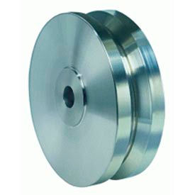 "Hamilton® Stainless V-Groove Wheel 5 x 2 - 3/4"" Plain Bearing"