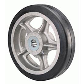 """Hamilton® Rubber On Aluminum Wheel 8 x 1-5/8 - 5/8"""" Roller Bearing"""