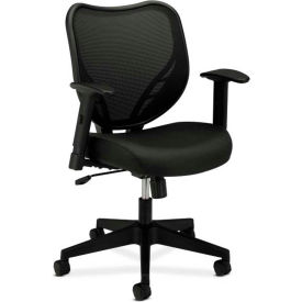 basyx® by HON® Manager's Chair with Mesh Back - Fabric - High Back - Black