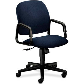 HON® HON4001AB90T Solutions 4000 Series Fixed Loop Arm High-Back Executive Chair, Blue Olefin