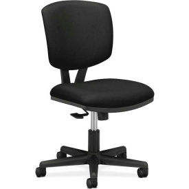 HON® Armless Task Chair with Synchro Tilt - Fabric - Low Back - Black - Volt Series