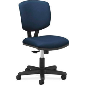 HON® Armless Task Chair with Synchro Tilt - Fabric - Low Back - Navy - Volt Series