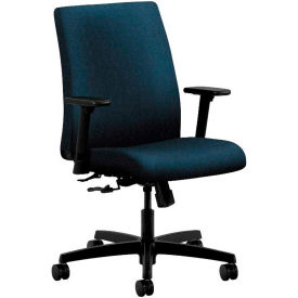 HON® HONIT105AB90 Ignition Adjustable Arm Low-Back Task Chair, Blue Olefin