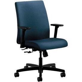 HON® HONIT105BK85 Ignition Adjustable Arm Low-Back Task Chair, Blue Polyester