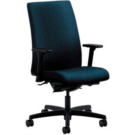 HON® HONIW104AB90 Ignition Adjustable Arm Mid-Back Task Chair, Blue Olefin