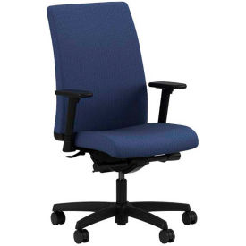 HON® HONIW104BK85 Ignition Adjustable Arm Mid-Back Task Chair, Blue Polyester