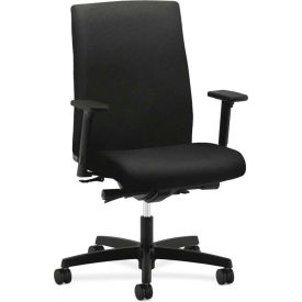 HON® HONIW104CU10 Ignition Adjustable Arm Mid-Back Task Chair, Black Polyester
