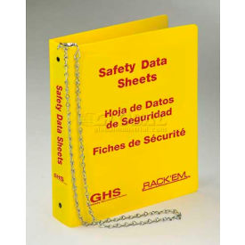 "Horizon Mfg. Tri Lingual Three Ring SDS Binder, 3010, 3""W by"