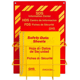 """Horizon Mfg. Tri Lingual SDS Binder and Safety Station, 3023, 3""""W by"""
