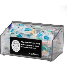 """Horizon Mfg. Clear Acrylic Foam Ear Plug Dispenser With No Lid, 5137, 9""""L"""