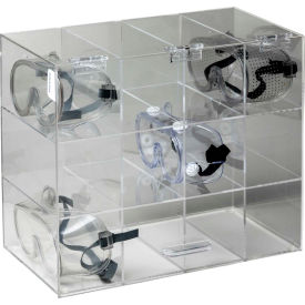"""Horizon Mfg. Safety Glass Holder With Door, 5205, Holds 12 Glasses, 7-3/4""""L"""