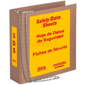 "Horizon Mfg. Tri Lingual Eco Friendly SDS Binder, 8652, 3""W Binder by"