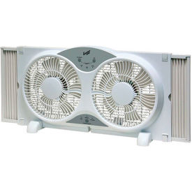 "Comfort Zone® CZ310R 9"" Reversible Twin Window Fan with Remote Control"