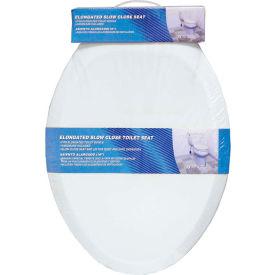AquaPlumb® CSC380W Elongated Plastic Slow Close Toilet Seat W/ Cover, White