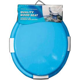 AquaPlumb® CTS100BL Round Wood Toilet Seat W/ Cover, Blue - Pkg Qty 6
