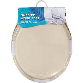 AquaPlumb® CTS100BO Round Wood Toilet Seat W/ Cover, Bone - Pkg Qty 6