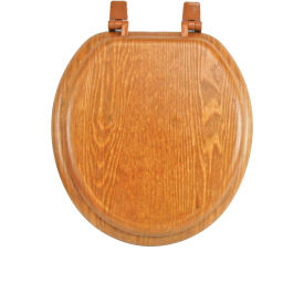 Toilets Urinals Toilet Seats AquaPlumb CTS100OAKP Round Wood Toile