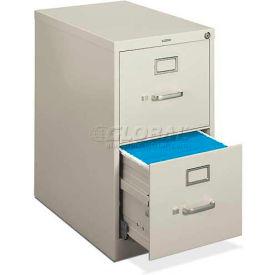 "HON® - basyx® H410 Series 2 Drawer Vertical, 22""D, Letter, Light Gray"