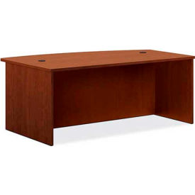 "basyx® by HON® BL Laminate Series Bow Front Desk Shell 72""W x 42""D x 29""H Medium Cherry"