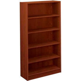 """basyx® by HON® Bookcase with 5 Shelves - 65-1/8"""" - Cherry - BL Series"""