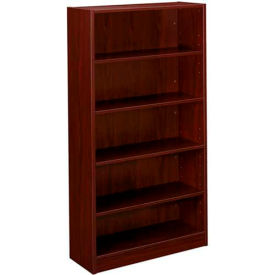 "basyx® by HON® Bookcase with 5 Shelves - 65-1/8"" - Mahogany - BL Series"