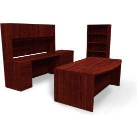 basyx by HON BL Series Office Suite with Storage, Mahogany