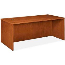 """basyx® Rectangular Desk Shell, 72""""W x 36""""D x 29""""H Bourbon Cherry"""