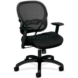 HON® - Basyx® VL712 Mid-Back Mesh Swivel/Tilt Chair, Black