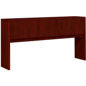"HON® Hutch with Doors - 72""W x 14-5/8""D x 37-1/8""H Mahogany - 10500 Series"
