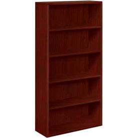 "HON® Bookcase Five-Shelf 36""W x 13-1/8""D x 71""H Mahogany - 10500 Series"