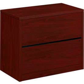 """HON® Lateral File Two-Drawer 36""""W x 20""""D x 29-1/2""""H Mahogany - 10500 Series"""